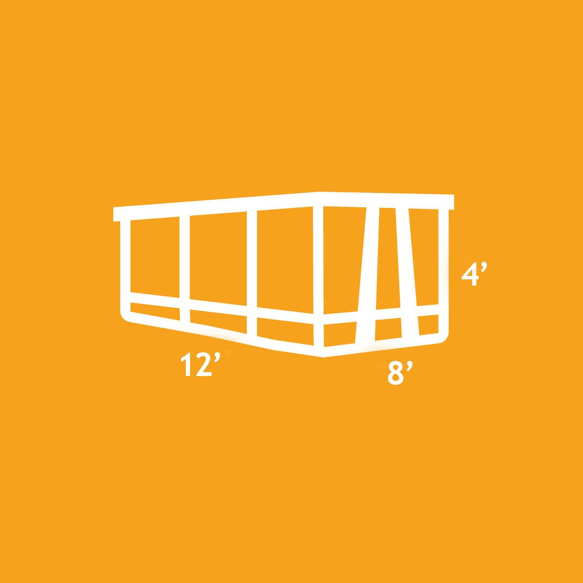An illustration of the 12 Yard Dumpster