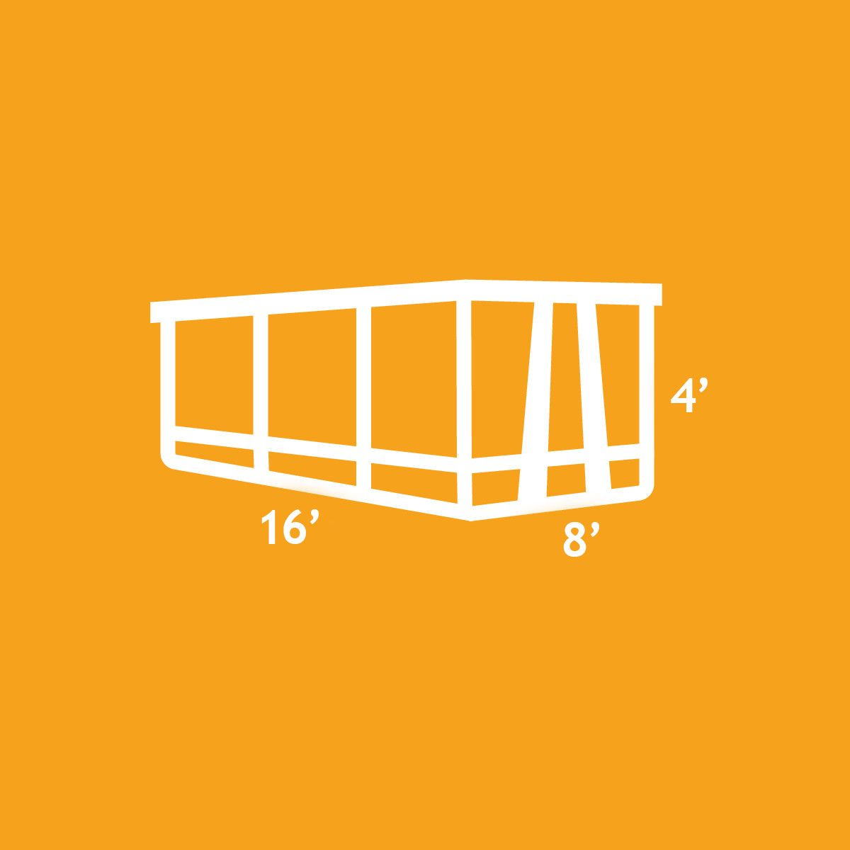 An illustration of the 15 Yard Dumpster